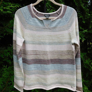 Pretty Eddie Bauer Pastel Striped Sweater